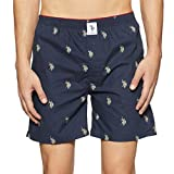U.S. Polo Assn. Men's Cotton Boxers (8907686196213_I021-195-P1_Navy_S)