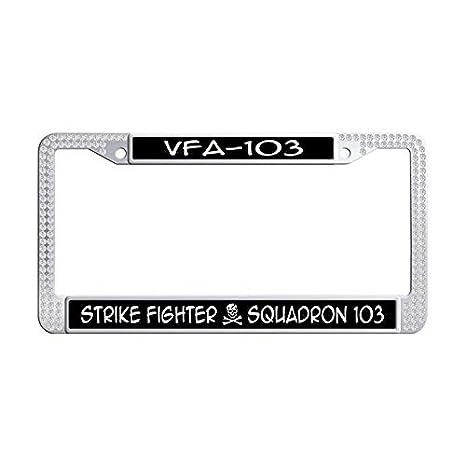 Amazon.com: Nuoousol U. S. Navy White Crystal License Plate Frame ...