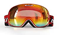 Snowmobile Goggles By NENKI For Ski Snowboard Snow Sport with Anti Fog & 100% UV Protection Lens For Men Women OTG Design NK-1006