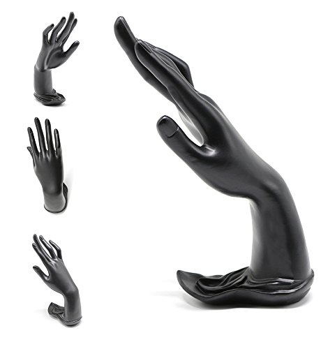 Bracelet Jewelry Display Stand Holder Hand Form Resin Ring Display Stand Rack for Jewelry or Home Organization, (Black)
