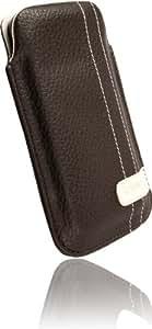 Krusell Gaia - Funda de piel para Samsung Galaxy 550, color marrón