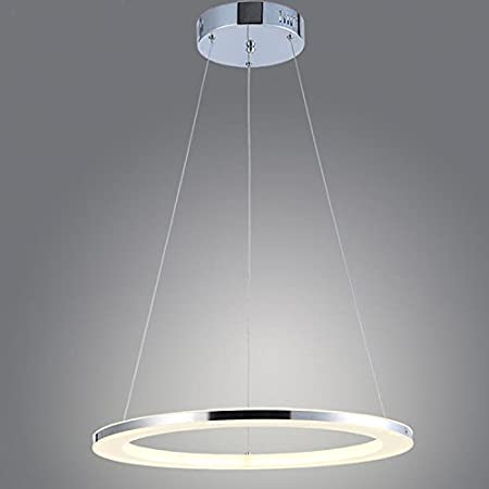 Homelava modern acrylic led circle pendant light 1 tier ceiling lights warm white yellow