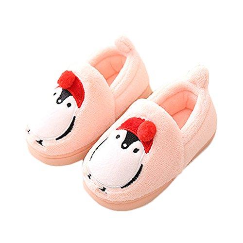 JadeRich Toddler/Little Kid Cute Penguin Winter Warm Slippers ()