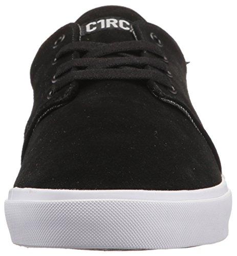 C1RCA Männer Drifter Leichte Einlegesohle Skateboard Skate Schuh Schwarz / Schwarz / Weiß