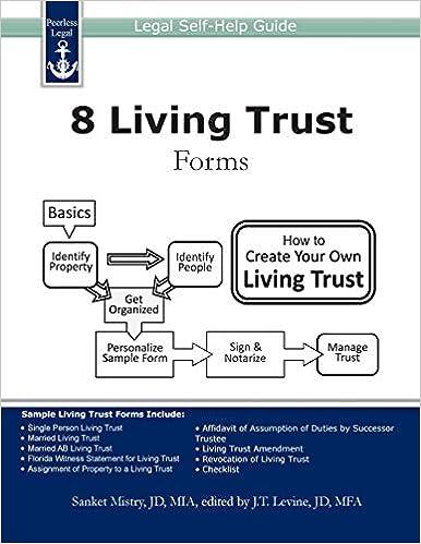 8 Living Trust Forms: Legal Self-Help Guide: Sanket Mistry