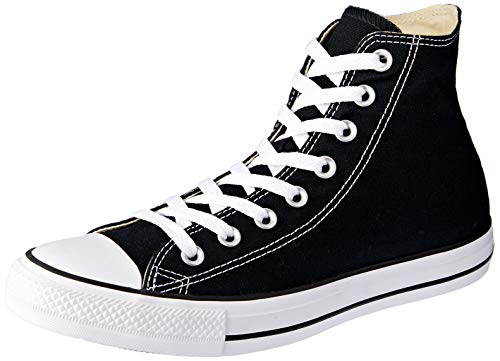 converse all star hi top black shoes men's chuck taylors (3.5) ()
