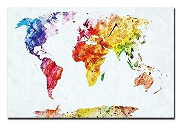Superlucky Karte Leinwand Malen Nach Zahlen Weltkarte Dekorative