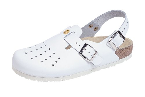 Strap with Antistatic Perforated White Weeger Heel Clog esd w8qPPf