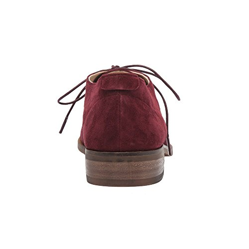 PIC/PAY Jonas - Women's Lace-Up Oxford - Classic Flat Leather Menswear Style Loafer Shoes (New Fall) Burgundy Suede outlet cheap prices QPPjc