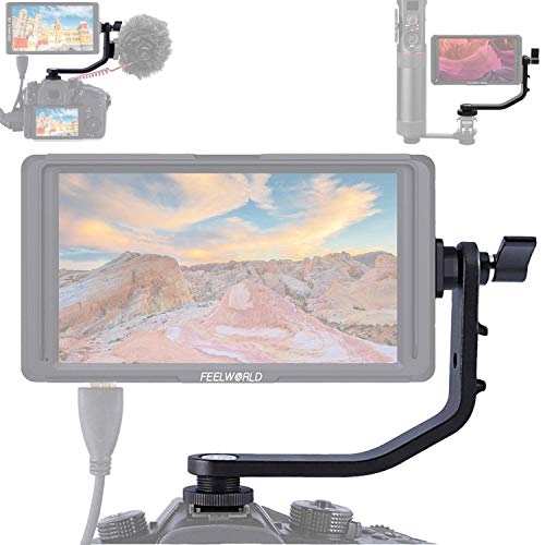 Tilt Arm Shoe Mount L Bracket DSLR Camera Field Monitor 4.5-5.7 Compatible FEELWORLD F6 MA5 FW450 MA6 ANDYCINE A6 HDMI Video Monitors 4K DJI Osmo Ronin Zhiyun Smooth Crane Gimbal Stabilizer