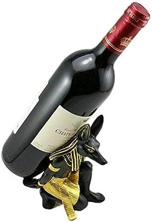HJXSXHZ366 Estantería de Vino Estante del Vino Estatua de Resina de Estante del Vino de la Resina de Bolsillo Dios Egipcio artesanía Creativa el Juego casero Estante de Vino pequeño