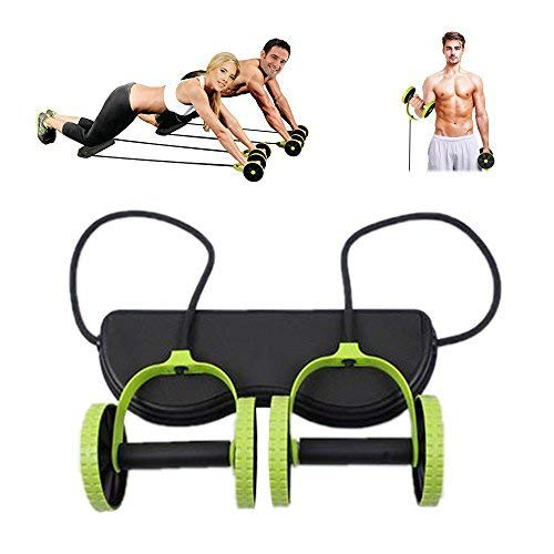 (Darhoo New Sport Core Double AB Roller Wheel Fitness Abdominal Exercises Equipment Waist Slimming Trainer At Home Gym)