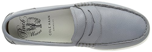 Cole Haan Mens Pinch Weekender In Pelle Penny Mocassino In Pelle Grigia / Bianca