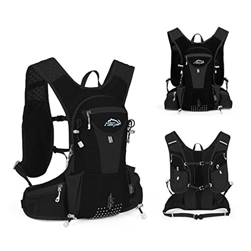 Amazon.com : LOCALLION Hiking Cycling Backpack Marathon Hydration Vest Pack for 1L Water Bag Cycling Outdoor Sport Running Backpack (black) : Sports & ...