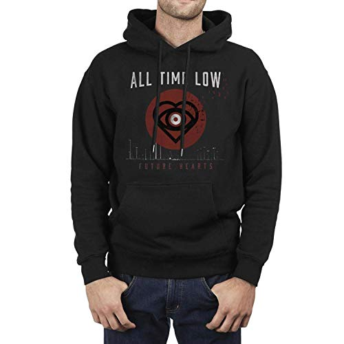 Iushfss Black Hoodie for Men All-time-Low-Future-Hearts-Album-Poster- Sweatshirt Winter Fleece Casual Pullover Hoodie (Best U2 Albums Of All Time)