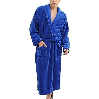 Happy Ever Men's Soft Velour Warm Bath Robe Classical Shawl Collar Sleepwear SY33
