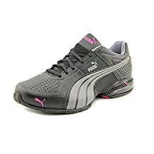 Puma Cell Surin Women US Size 7.5 Black Faux Leather Sneakers