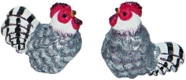 Mini Farmhouse Chicken Figurines, Set of 2