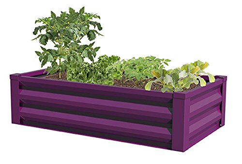 Greenes Fence Powder-Coated Metal Raised Garden Bed Planter 24