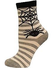 Hot Sox Kid's Spider Stripe Crew Socks 1 Pair