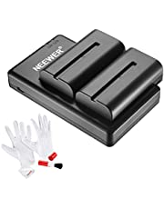 Neewer 2 Pieces 2600mAh Sony NPF550/570/530 Replacement Li-ion Battery with Dual USB Charger and 3-in-1 Cleaning Kit for Sony HandyCams, LED Light, Neewer NW-759 74K 760 Feelworld 759 74K 760 Monitor