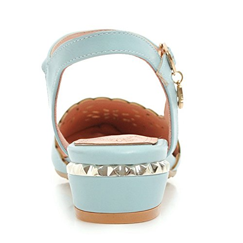 TAOFFEN Women Closed Toe Sandals Blue vXV7sPsl