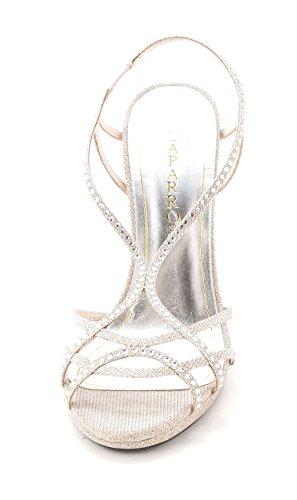 Caparros Vrouwen Zondag Kristal Verfraaid Slingback Sandalen Naakt Glinstering
