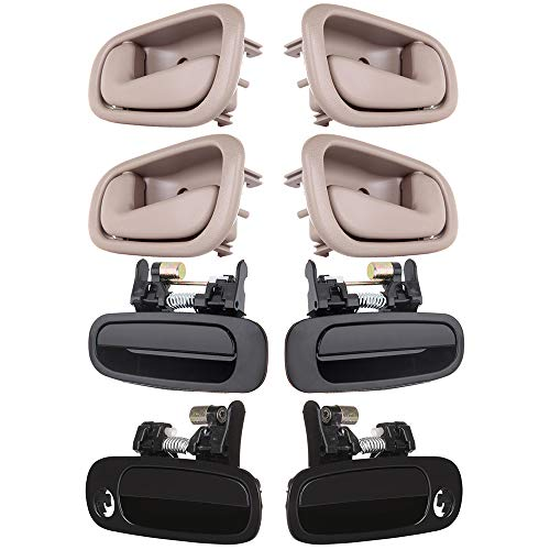 OCPTY Door Handles Exterior Interior Driver Passenger Side Replacement fit 1998-2002 Toyota Corolla Outside Inside Door Handles(8pcs) ()
