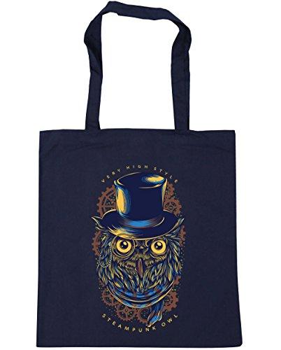 Hippowarehouse Very high style steampunk owl tattoo Tote Shopping Gym Beach Bag 42cm x38cm, 10 litres