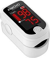 Oxymètre de pouls, oxymètre de doigt adulte et enfant avec affichage LED, oxymètre saturomètre du sang au bout du doigt,...