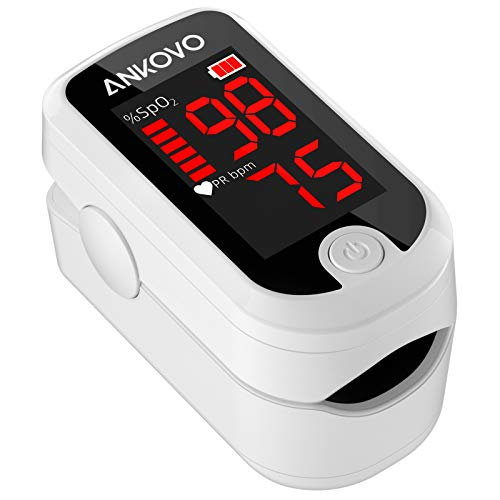 Pulse Oximeter Fingertip, Blood Oxygen Saturation Monitor Fingertip, Fast SpO2 Reading Oxygen Meter, Finger Pulse Ox Monitor