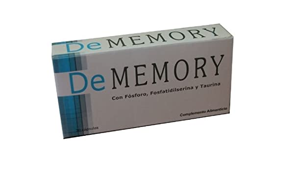 Amazon.com: PACK 2 x DEMEMORY DE MEMORY 30 CAPSULAS TOTAL 60 CAPSULAS SHIP WORLDWIDE BY CIRCLE SHOP: Health & Personal Care