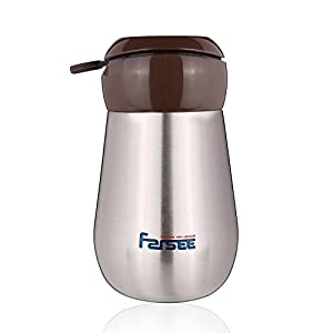 FARSEE Double Wall Vacuum Insulated Stainless Steel Water Bottle For Kids,Ladies,With Loop,Small Size,8oz,Brushed SS