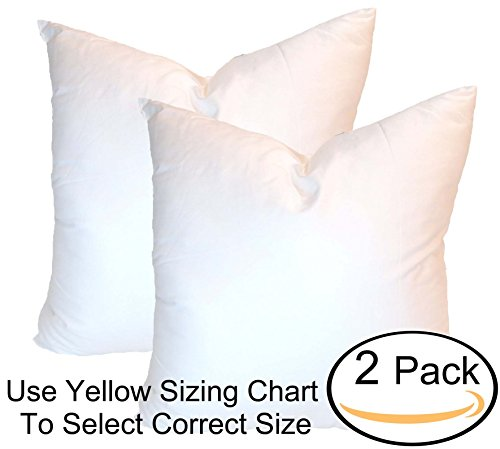 Pillowflex Synthetic Down Alternative Pillow Inserts for Shams (Set of 2 22 Inch by 22 Inch)