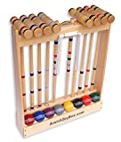 Amish-Crafted Deluxe 8-Player Croquet Game Set, Maple Hardwood
