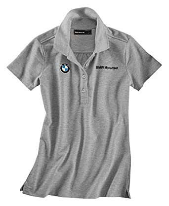 BMW Genuine Motorcycle Riding Bmw Logo Women' S Polo Shirt Grey Gray melange