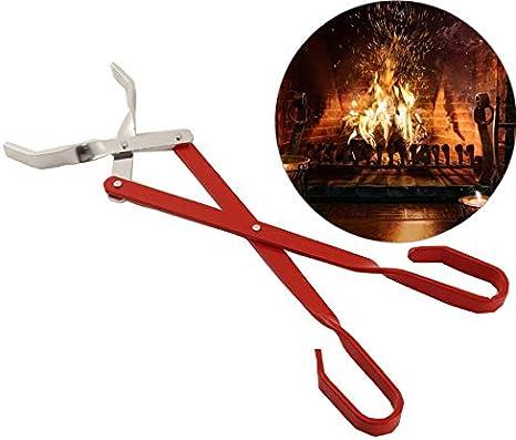 EE/_ DV/_ Portable Camping Folding Fire Tongs Anti-slip Chuck Clip Hiking Cookware