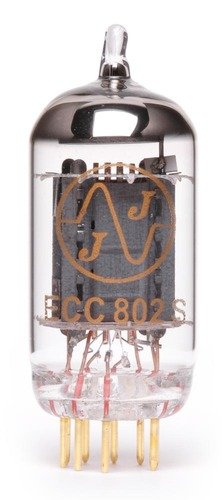 JJ ECC802 / 12AU7 Long Plate Gold Pin Vacuum Tube by JJ Electronic