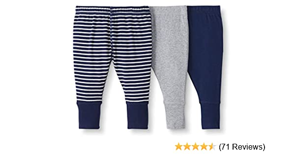 5T Moon and Back by Hanna Andersson Baby//Toddler Girls 3-Pack Organic Cotton Legging Navy