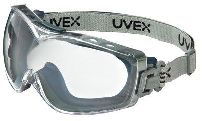 Stealth OTG Goggles, Clear/Navy, Dura-Streme Coating, Neoprene Strap (21 Pack)