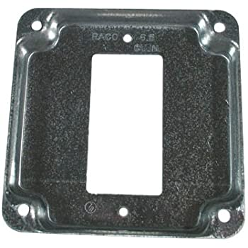 Raco 849-1024-3699 1 GFCI 808C 4 Square Exposed Work Cover