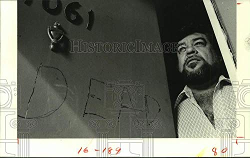 Vintage Photos 1982 Press Photo Vandalized Front Door of Bill Self, a Houston Transfer ()