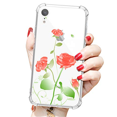 Compatible to iPhone XR Shell, Beautiful Image attracts People's Attention, Four-Side Wrapping Protects from Falling, Provides 360° All-Round Protection(Red)