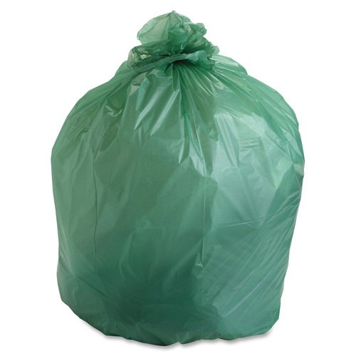 Compostable Trash Bags, 48Gal.85mil, 42x48, 40/BX, Green, Sold as 1 Box - Stout Compostable Trash Bags, 48Gal.85mil, 42x48, 40/BX, Green