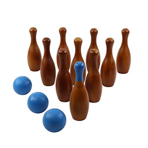 Hammer Crown English Skittles Game - Lawn Bowling Set; (Skittle Ball)