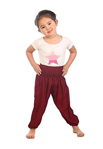 Lofbaz Kids Solid Hippy Gphsy Child Pirate Pants