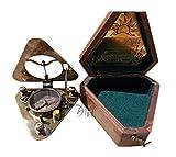 MAH Handmade Triangular Sundial Compass With spirit