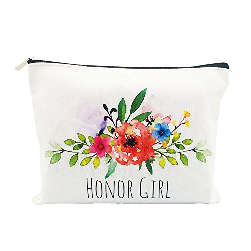 Flower Girl Gifts Basket Bachelorette Party Favors Maid of Honor Gift Proposal Wedding Bridal Shower Favors Will You Be My Flower Girl Cosmetic Bag (Birthday Flowers For My Best Friend)