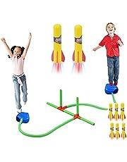 لعبة قاذفة صواريخ للعب خارج المنزل - مناسبة كهدية للاولاد والبنات - لعمر 3 سنوات فما فوق. تشمل قاذف صواريخ (مُزدوجة -6 صواريخ)
