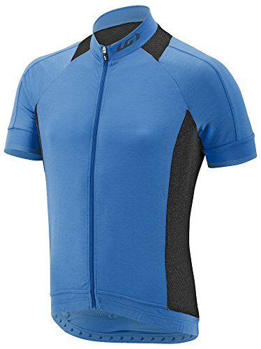Louis Garneau Sleeveless Jersey (Louis Garneau Men's Lemmon 2 Lightweight, Short Sleeve, Full Zip Cycling Jersey, Curacao Blue, Large)